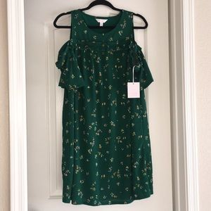 Lauren Conrad green floral dress